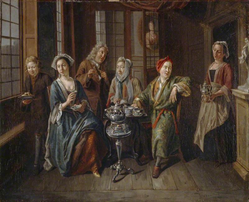 van Aken, Joseph, c.1699-1749; A Tea Party