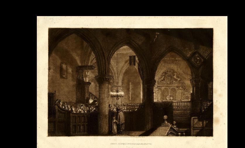 Turner, church interior